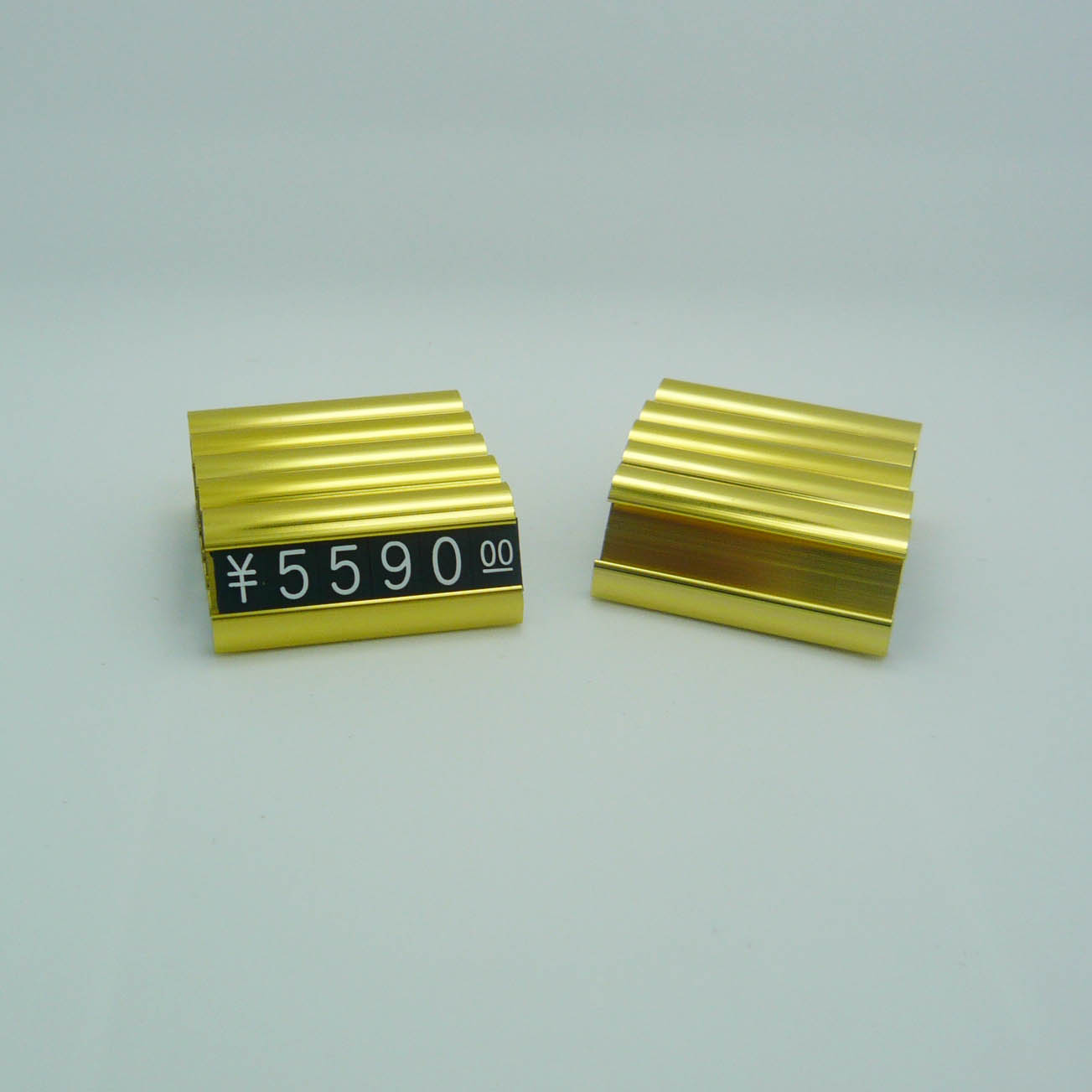 Tabletop Gold Aluminium Assembly Price Tags Jewelry
